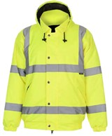 Safety Hi Vis Bomber Jacket Yellow