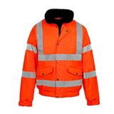Safety Hi Vis Bomber Jacket Orange