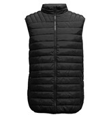 Bodywarmer with high fleece collar and lining