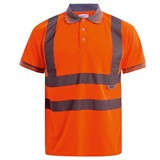 Safety Hi Vis Rail Polo shirt
